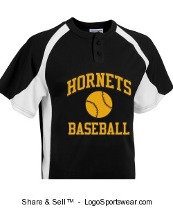 Adult Line Drive 2 Button Jersey Design Zoom
